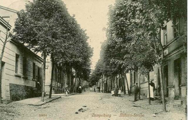 Rok 1912. Mühlen Strasse - ul. Młyńska.