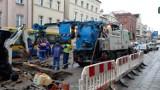 Awaria wodociągu przy ul. Armii Krajowej w Słupsku [ZDJĘCIA]