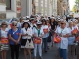 Protest sieradzkich pielęgniarek przed Łódzkim Urzędem Wojewódzkim ZDJĘCIA