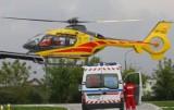 Wypadek w gospodarstwie w gminie Dobrodzień. Mężczyzna spadł z wysokości około trzech metrów. Na miejsce wezwano śmigłowiec LPR