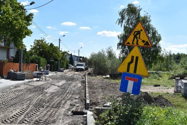Trwają prace nad przebudową ulic Polnej i Kochanowskiego.
