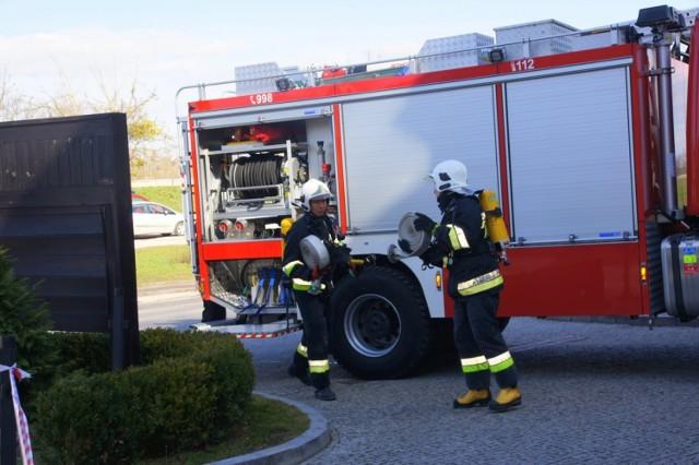 Ćwiczenia strażackie w Kazimierzu Dolnym