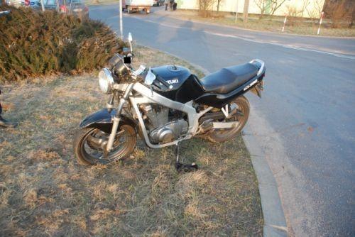 motocykl po wypadku