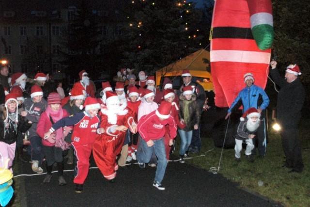Bieg Mikołajów zorganizowany w Krośnie Odrzańskim.