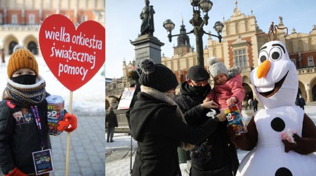 Wielka Orkiestra Świątecznej Pomocy na ulicach Krakowa.
