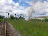 Przy ul. Pątnowskiej w Legnicy płonęły podkłady kolejowe