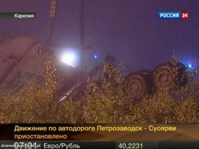 W północnej Rosji doszło do katastrofy samolotu typu Tu-134. ...