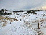Zimowy spacer po Słowińskim Parku Narodowym. Zobacz zdjęcia i wideo naszego fotografa