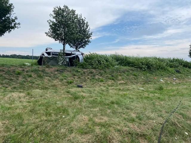 Wypadek drogowy na autostradzie A2, w okolicach miejscowości Stok.