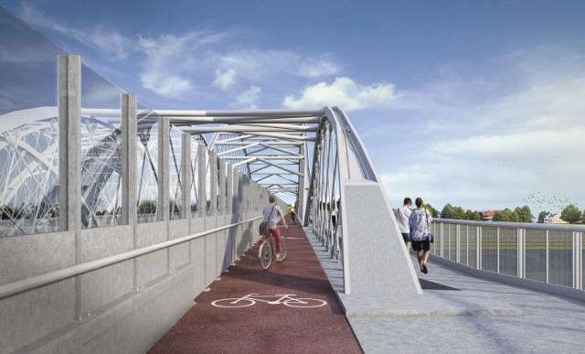 Kończy się projektowanie nowego pieszo-rowerowego mostu kolejowego nad Wisłą. Planuje się, że inwestycja zostanie zakończona w II połowie 2022 r.