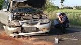 Zderzenie dwóch samochodów osobowych w Miedźnie FOTO