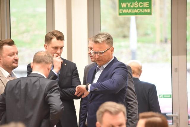 Poseł Łukasz Mejza i prezydent Janusz Kubicki