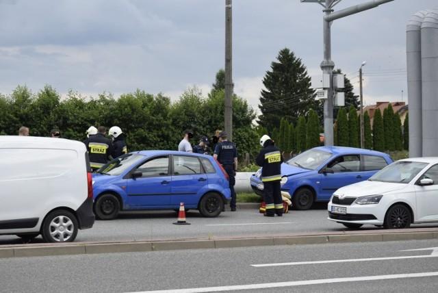 Wypadek na alei Rataja w Skierniewicach