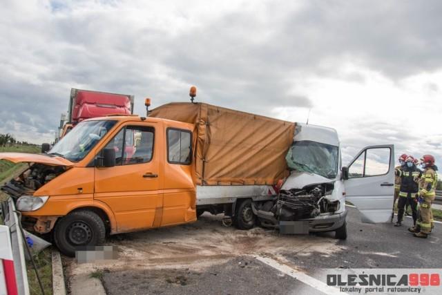 Wypadek na S8 między Oleśnicą i Wrocławiem