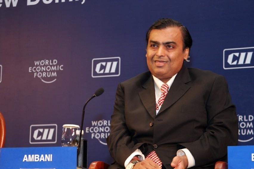 10. Mukesh Ambani, 84,5 mld dol.Indyjski przedsiębiorca...
