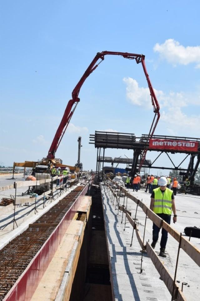 Budowa mostu S7 na rzece Wiśle w Kiezmarku