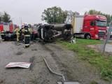 Bardzo groźny wypadek w Pietrzykowicach pod Wrocławiem. Zobacz zdjęcia!