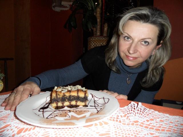 Barbara Myszka i jej makowiec. Pyszny, próbowaliśmy.
