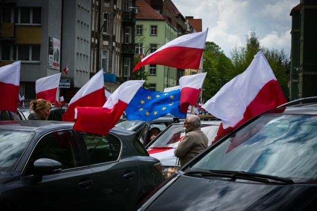 Patriotyczny przejazd w Szczecinie 3 maja 2019