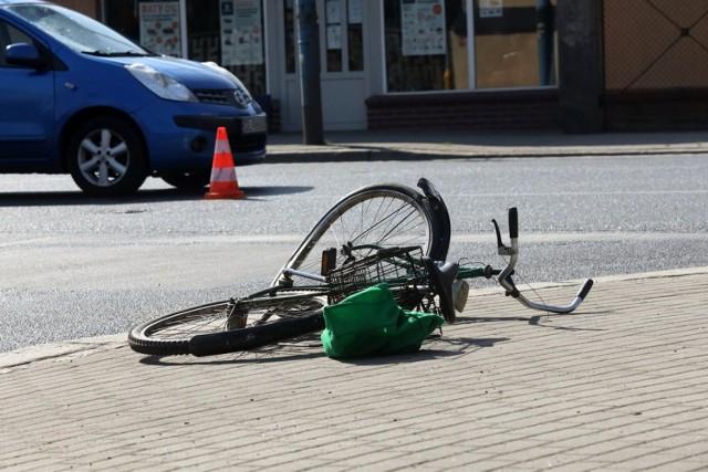 Wypadek na ulicy Wrocławskiej w Legnicy.
