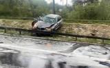 Żory: Ofiara śmiertelna i ciężko ranni w wypadku na A1. Przyczynami grad i oberwanie chmury