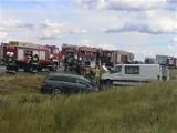 Gmina Kuślin: Zderzenie dwóch samochodów na autostradzie A2 [ZDJĘCIA]