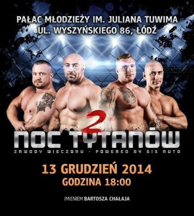 Plakat Nocy Tytanów 2. Fot. Mariusz Reczulski