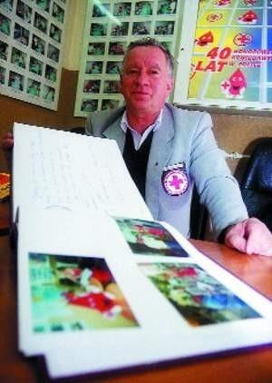 – Nadal będę zajmował się krwiodawstwem – zapewnia Józef Gielert.   FOT. ROBERT ZAPORA