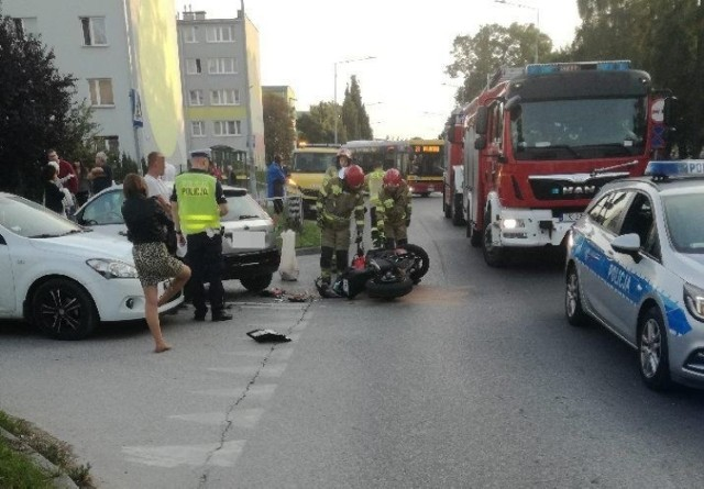 na miejscu wypadku