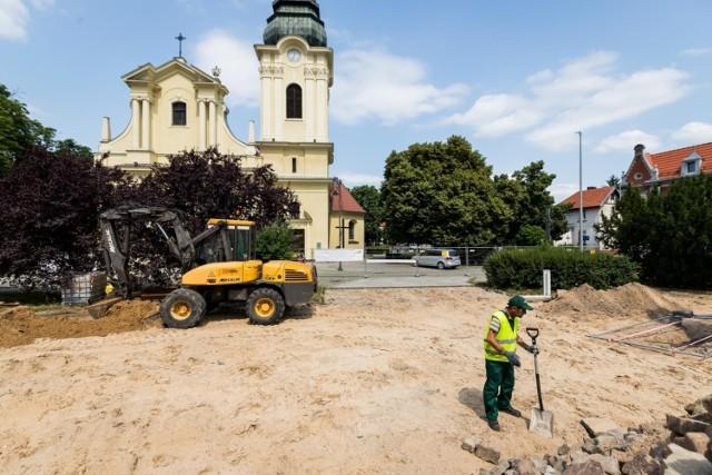 Stary Fordon w Bydgoszczy to teraz wielki plac budowy. Trwają prace przy rewitalizacji rynku, nabrzeża i uliczek