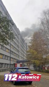 Pożar w Uniwersyteckim Centrum Klinicznym w Katowicach. Wybuchł na siódmym piętrze, pracownicy oraz pacjenci zostali ewakuowani