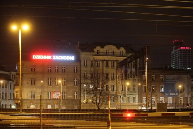 Neon Dziennika Zachodniego w Katowicach