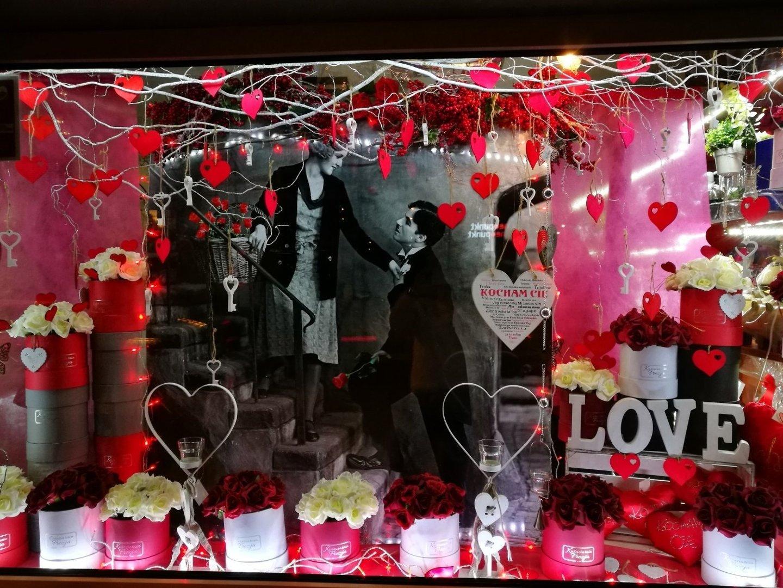 Najpiękniejsze Witryny Walentynkowe W Regionie Zdjęcia
