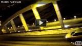 Most Rocha - Zimowa głupota na przęśle. Film