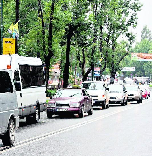 Na większości głównych ulic Zakopanego były kilometrowe korki
