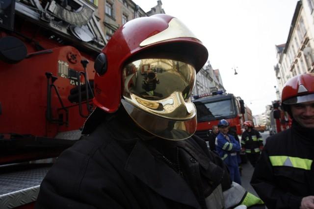 Strażacy wspierają WOŚP w Manufakturze