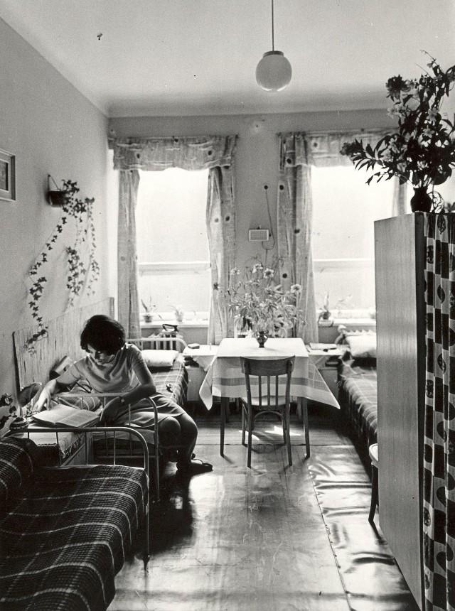 Pokój w domu studenckim (1969 r.)