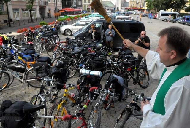 Zdjęcie z pielgrzymki rowerowej w 2011 roku