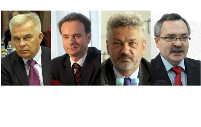 Zastępcy prezydenta Lublina (od lewej): Stanisław Kalinowski, Grzegorz Siemiński, Włodzimierz Wysocki, Zbigniew Wojciechowski