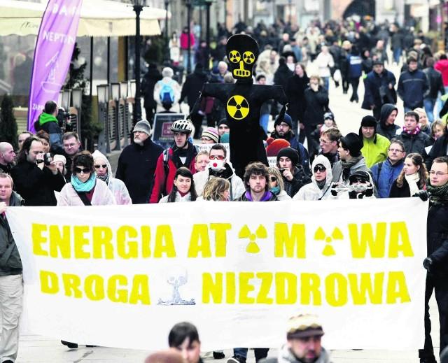Protest przeciwko budowie elektrowni jądrowych