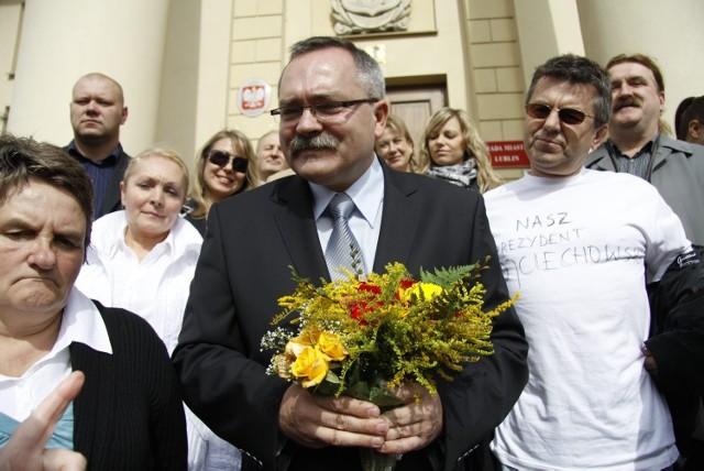 Zbigniew Wojciechowski na początku swojej kampanii wyborczej na prezydenta Lublina