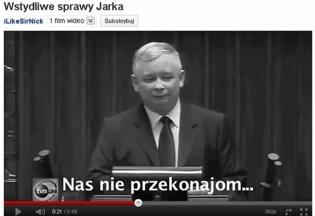 Furorę robi złośliwy filmik oparty na fragmentach wystąpień Jarosława Kaczyńskiego