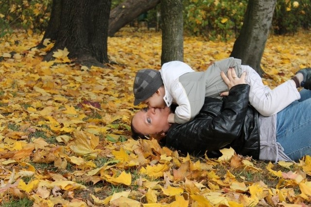 mama: Justyna Wardak, syn: Dominik