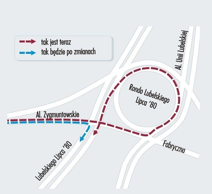 Lublin: Będzie zjazd z Zygmuntowskich w Trasę Zieloną