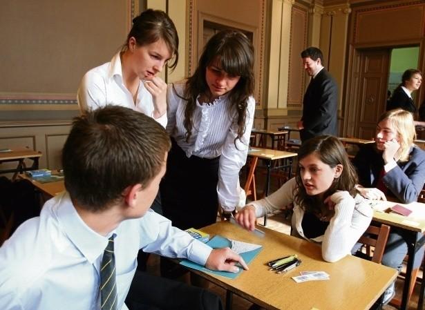 Egzamin z matematyki w VIII LO w Katowicach