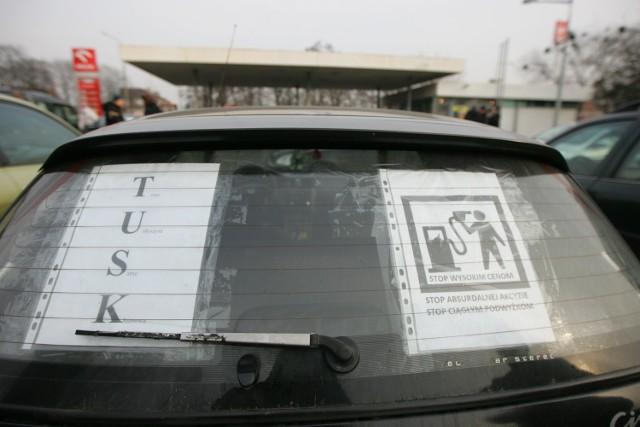 Przeciw drogim paliwom protestowało w Poznaniu niewielu