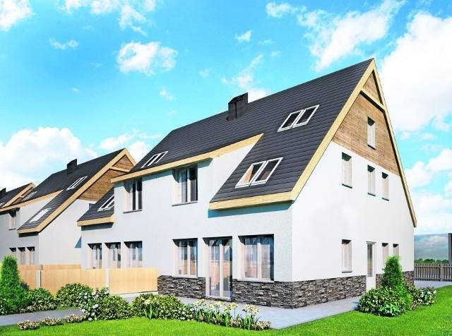 Każdy dom zostanie ogrodzony, a teren wokół niego - wyrównany. Podjazd do garażu będzie wykonany z kostki betonowej