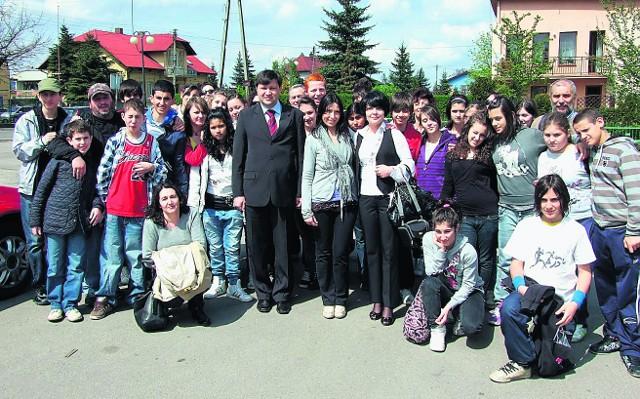 Młodzież w włoskiego Corciano z wizytą w Libiążu