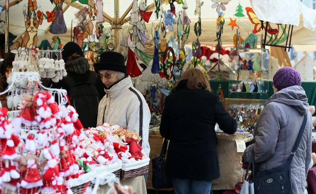 Targi Bożonarodzeniowe na krakowskim Rynku