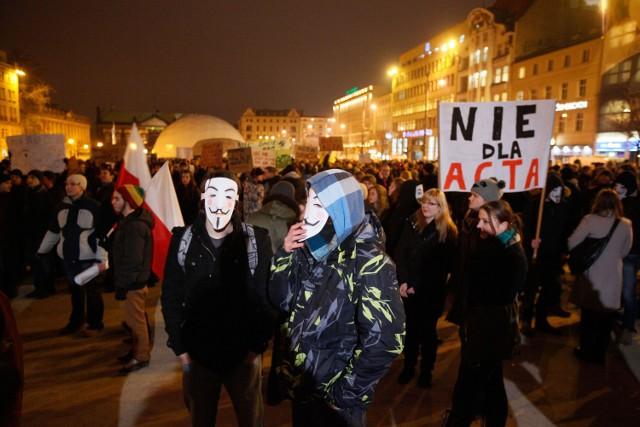 Pod koniec stycznia odbyły się w Poznaniu pierwsze manifestacje przeciwko ACTA
